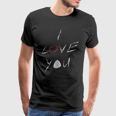 I Love You Saying as a Gift Idea with a Heart - Men's Premium T-Shirt