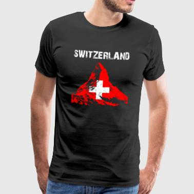 Nation-Design Switzerland Matterhorn 85ni - Männer Premium T-Shirt