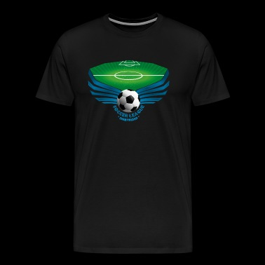 Soccer League - Premium T-skjorte for menn