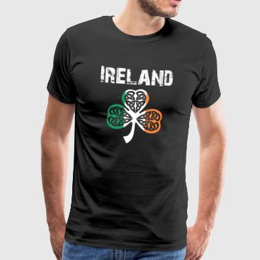 Nation-Design Irland Shamrock 3Flbb - Premium-T-shirt herr