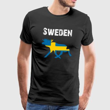 Nation-Design Sweden Moose chFgl - Premium-T-shirt herr