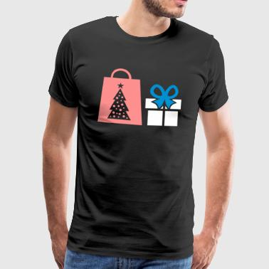 Gåva shopping bag jul - Premium-T-shirt herr
