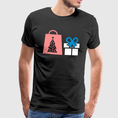 Gift shopping bag christmas - Men's Premium T-Shirt