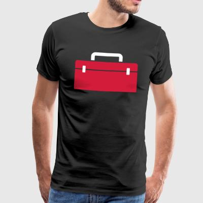 Tool box or fishing suitcase - gift - Men's Premium T-Shirt