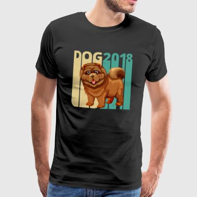 Vintage Retro Dog 2018. Year of the Dog Chow Chow. - Men's Premium T-Shirt
