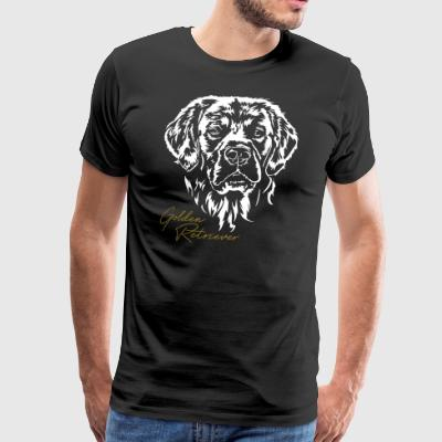 GOLDEN RETRIEVER portrait - Men's Premium T-Shirt