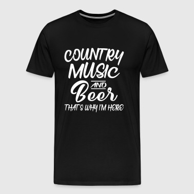 Country Music and Beer - Premium-T-shirt herr