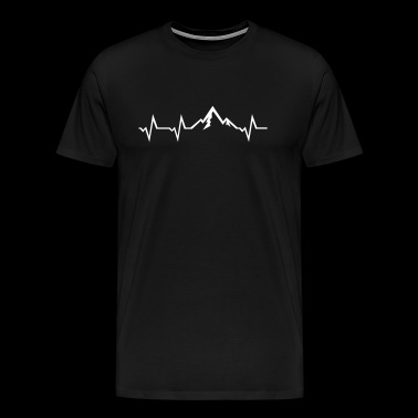 Mountain Heartbeat - Mannen Premium T-shirt