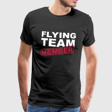 Flying team medlem flygende pilot gave Crew - Premium T-skjorte for menn