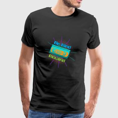 Funny VHS VCR Vintage 90s 80s - Herre premium T-shirt