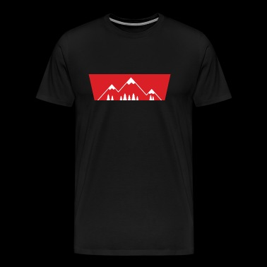 Retro Mountains Print Design - Men's Premium T-Shirt