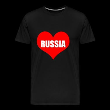russiaheart - Premium T-skjorte for menn