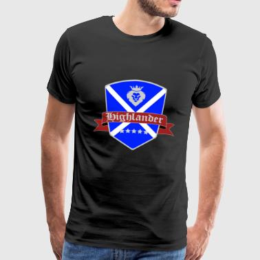 Scotland Highland Highlander shirt flag - Men's Premium T-Shirt
