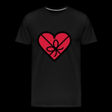 Chocolate box in heart shape - Men's Premium T-Shirt