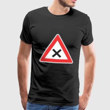 Road Sign x sign - Mannen Premium T-shirt