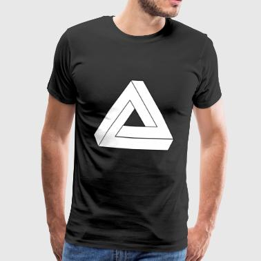 Illusion optique symbole de l'infini Triangle - T-shirt Premium Homme