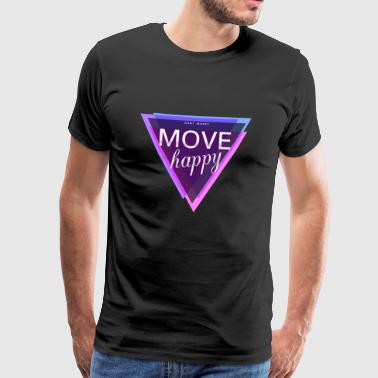 Motivation in the gym: dont worry move happy - Men's Premium T-Shirt