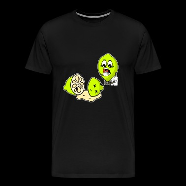 Lime murder crime fruit - Men's Premium T-Shirt