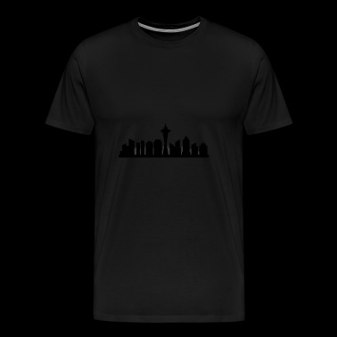 Skyline van Seattle - Mannen Premium T-shirt