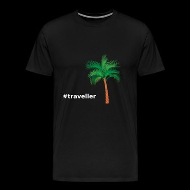 Palm #traveller - Premium-T-shirt herr