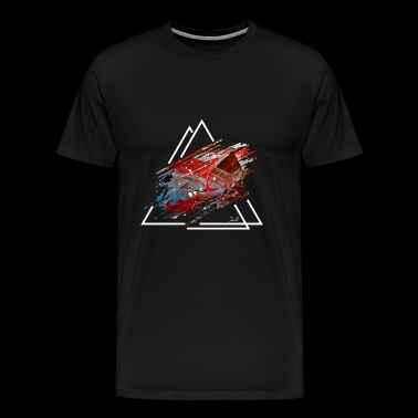 Modern triangle art - Men's Premium T-Shirt