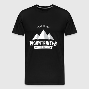 Legendary summiteer - mountaineer, hiker - Men's Premium T-Shirt