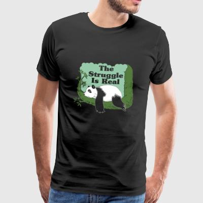 The Struggle Is Real Funny Panda Face Gift - Men's Premium T-Shirt
