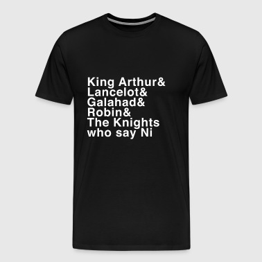 Holy Grail Knights - Names - Men's Premium T-Shirt