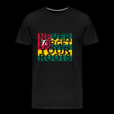never forget roots home Togo - Männer Premium T-Shirt