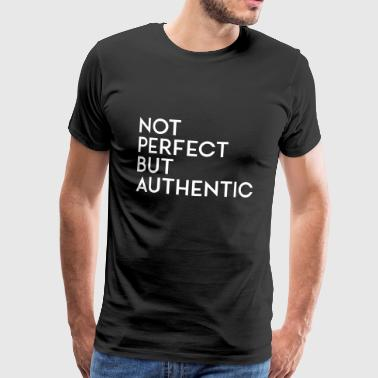 Niet perfect, maar authentiek wit - Mannen Premium T-shirt