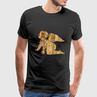 Engel in Gold - Männer Premium T-Shirt