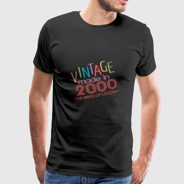 18th birthday t shirt vintage 2000 gift - Men's Premium T-Shirt