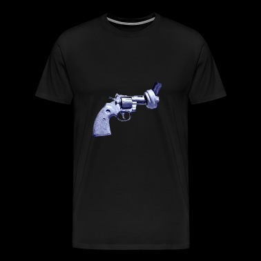 pistol no was knot peace Pistols revolver gun - Men's Premium T-Shirt