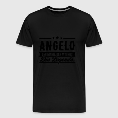Man Myth Legend Angelo - Premium-T-shirt herr