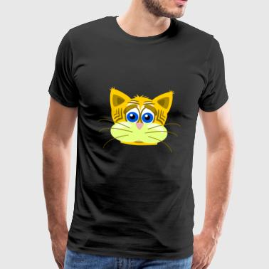 Anxieux chat - T-shirt Premium Homme