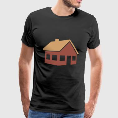building house homes architektur haus gebaeude211 - Männer Premium T-Shirt