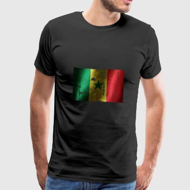 Senegal flag cool vintage used sport look - Men's Premium T-Shirt