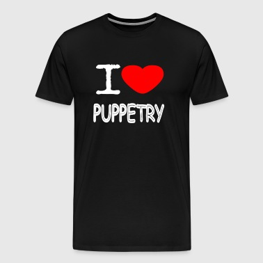 I LOVE Puppetry - Premium T-skjorte for menn
