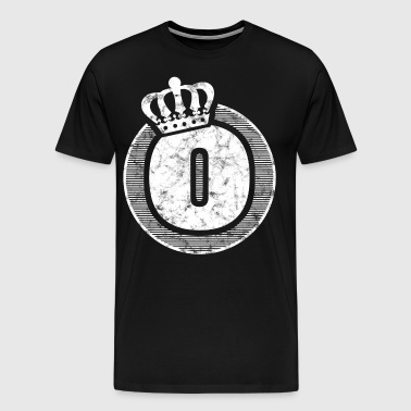 Stylish letter O with crown - Men's Premium T-Shirt