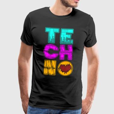 TECHNO LOVE - Premium T-skjorte for menn