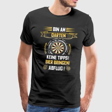 Cooles Dartshirt Bin am Darten. - Männer Premium T-Shirt