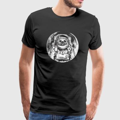 Dog Astronaut French Bulldog Moon Bully Universe - Men's Premium T-Shirt