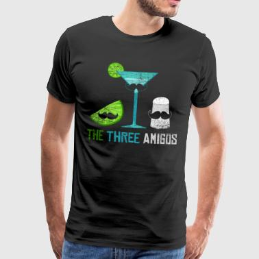 The three friends tequila mexico vintage gift - Men's Premium T-Shirt