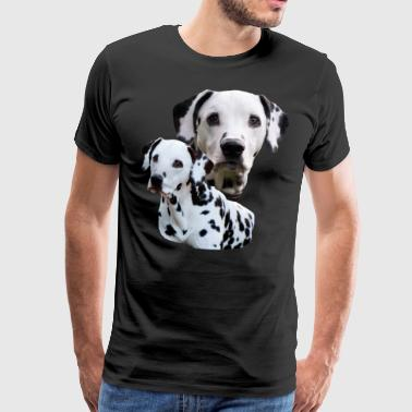Dog, dog head, dog sports, Dalmatian, dog , - Men's Premium T-Shirt