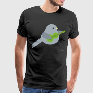 Bird Playing Band Guitar Music Guitarist Motiv - Premium T-skjorte for menn
