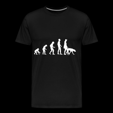 Evolution dog owner and dog - Men's Premium T-Shirt