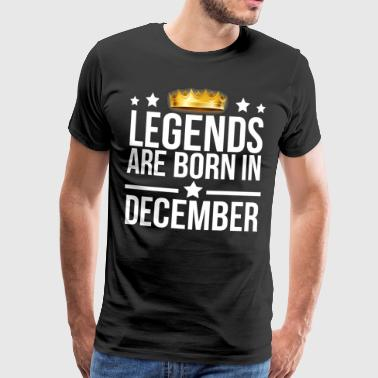 Legends are born in December T-shirt - Men's Premium T-Shirt