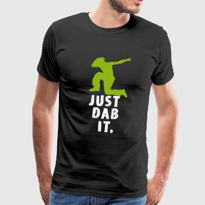 dab green man Dabbing touchdown Football fun cool - Männer Premium T-Shirt
