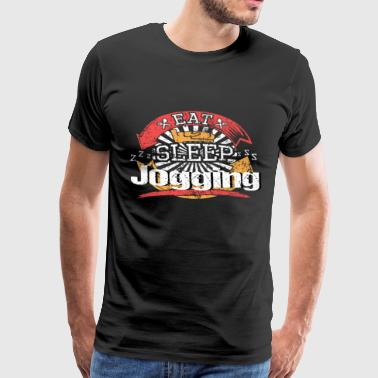 Eat Sleep jogging - Premium T-skjorte for menn