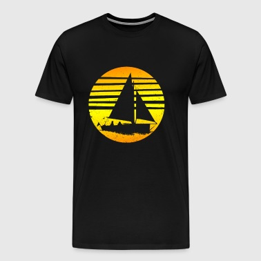 Zeilen - Sailboat Retro Vintage Sailor Gift - Mannen Premium T-shirt